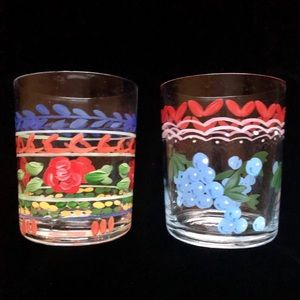 Vintage Hand Painted Glasses